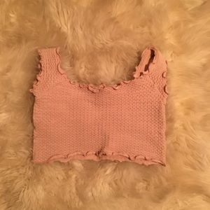 Free People Intimately Pale Pink Crop Top